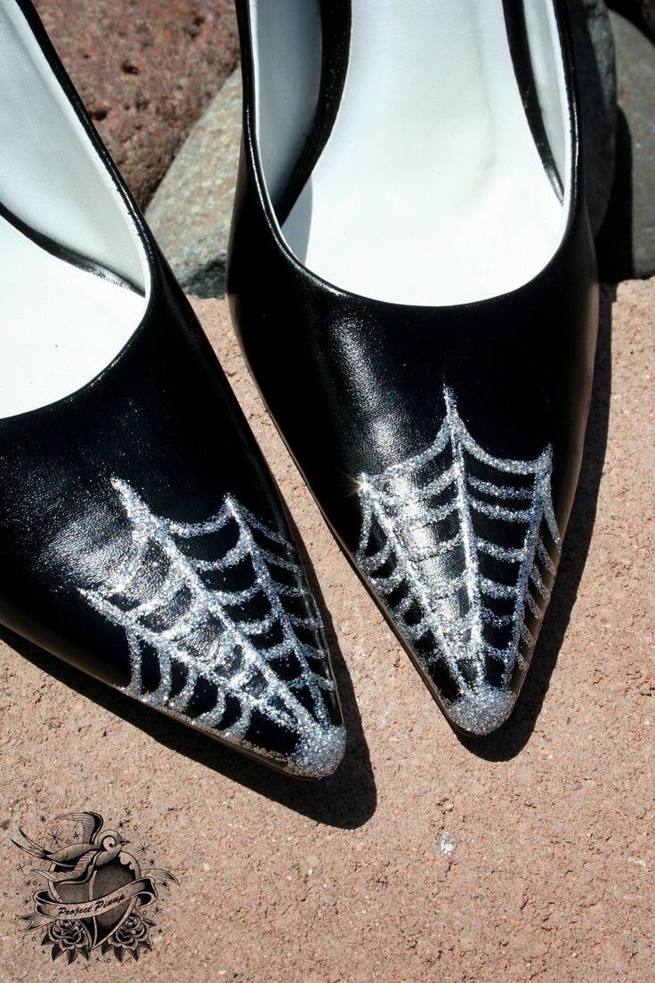 Spiderweb Witch Shoes To Match Your Witch Costume...could I use press n seal so I don't ruin my shoes???