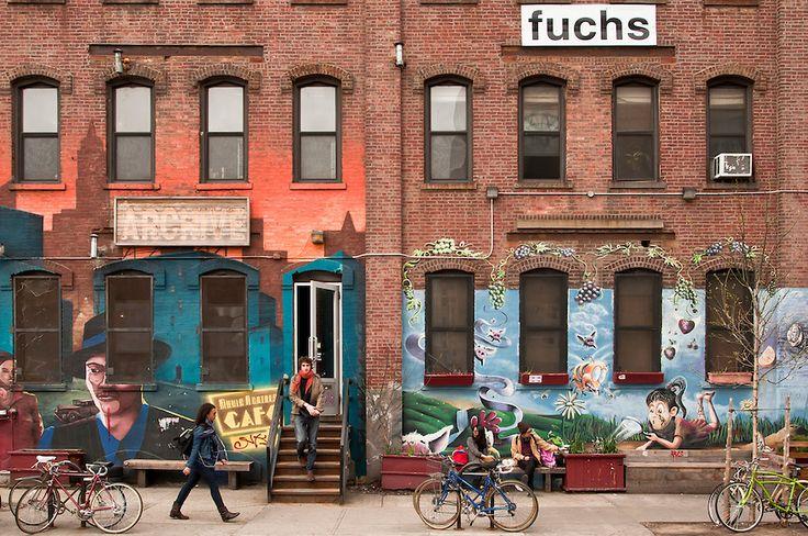 bushwick brooklyn   Stores on bogart Street, Bushwick, Brooklyn, New York