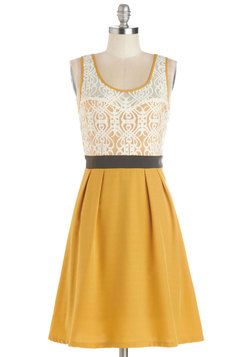 Fanciful Forsythia Dress, #ModCloth