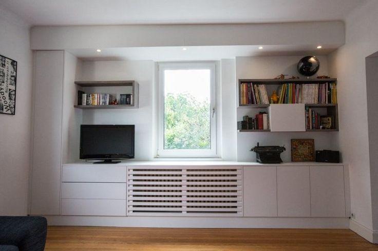Bibliothèque avec cache-radiateur intégré chez a3d pour inspiration