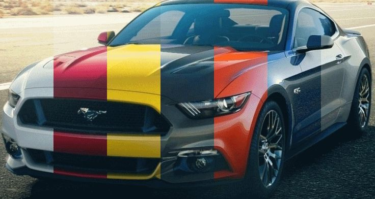 2015 Ford Mustang – Engine Note MP3s and All 10 Colors in Animated Turntables