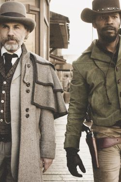 christoph waltz JAMIE FOXX Django Unchained django Dr. King Schultz