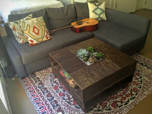 I made a succulent garden coffee table out of repurposed pallet wood - Imgur