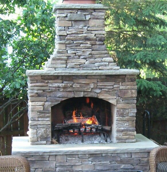 46 Best Outdoor Fireplace Images On Pinterest