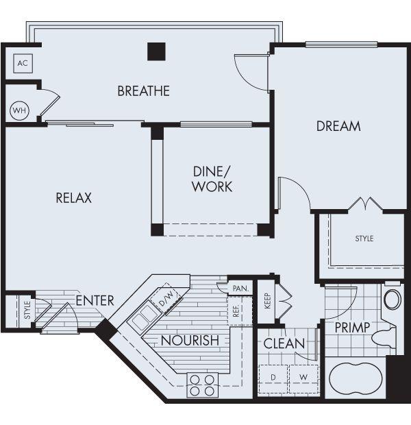 The Charleston1 bedroom1 bath807 sq ft$1,667 - $1,940 mo*$400 security deposit City Lights Aliso Viejo