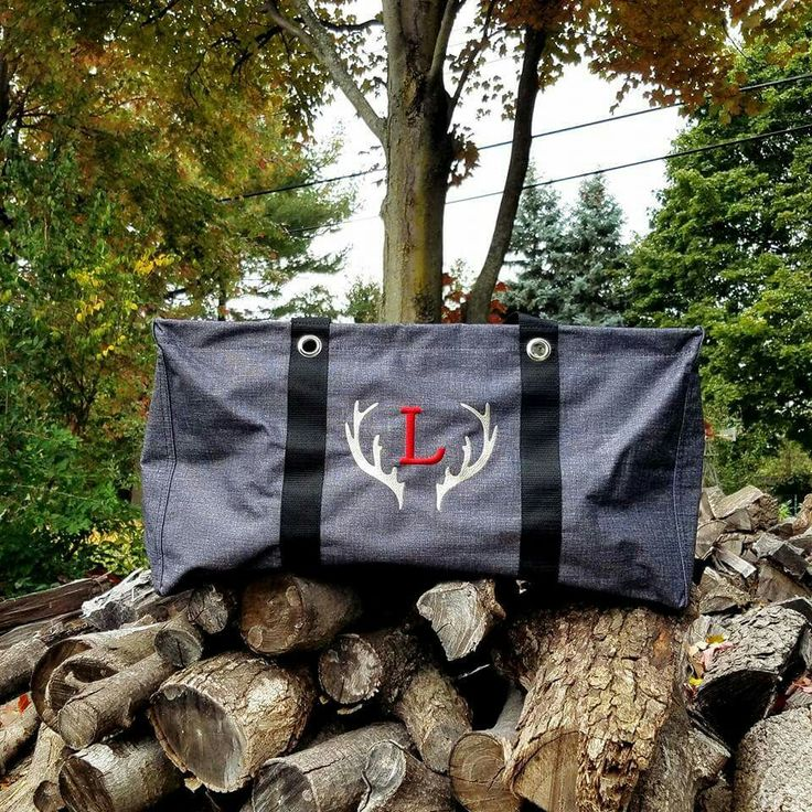 Love the Large Utility Tote with the adorable new antler personalization!