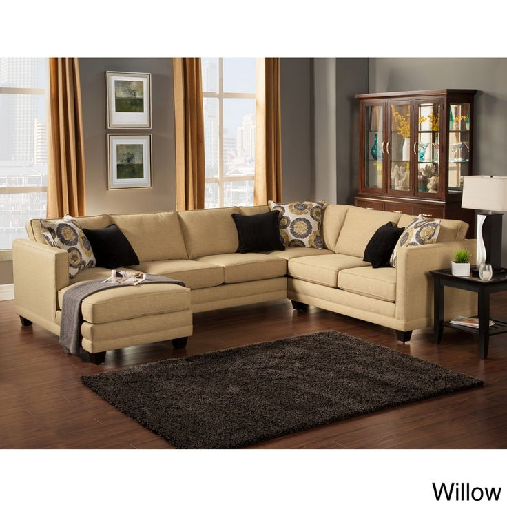 Furniture U0026 Design :: Living Room Furniture :: Sofas And Sets :: Sectional  Sofas :: 3 Pc Oasis Collection Teal Color Fabric Upholstered Sectional Sofa  With ...