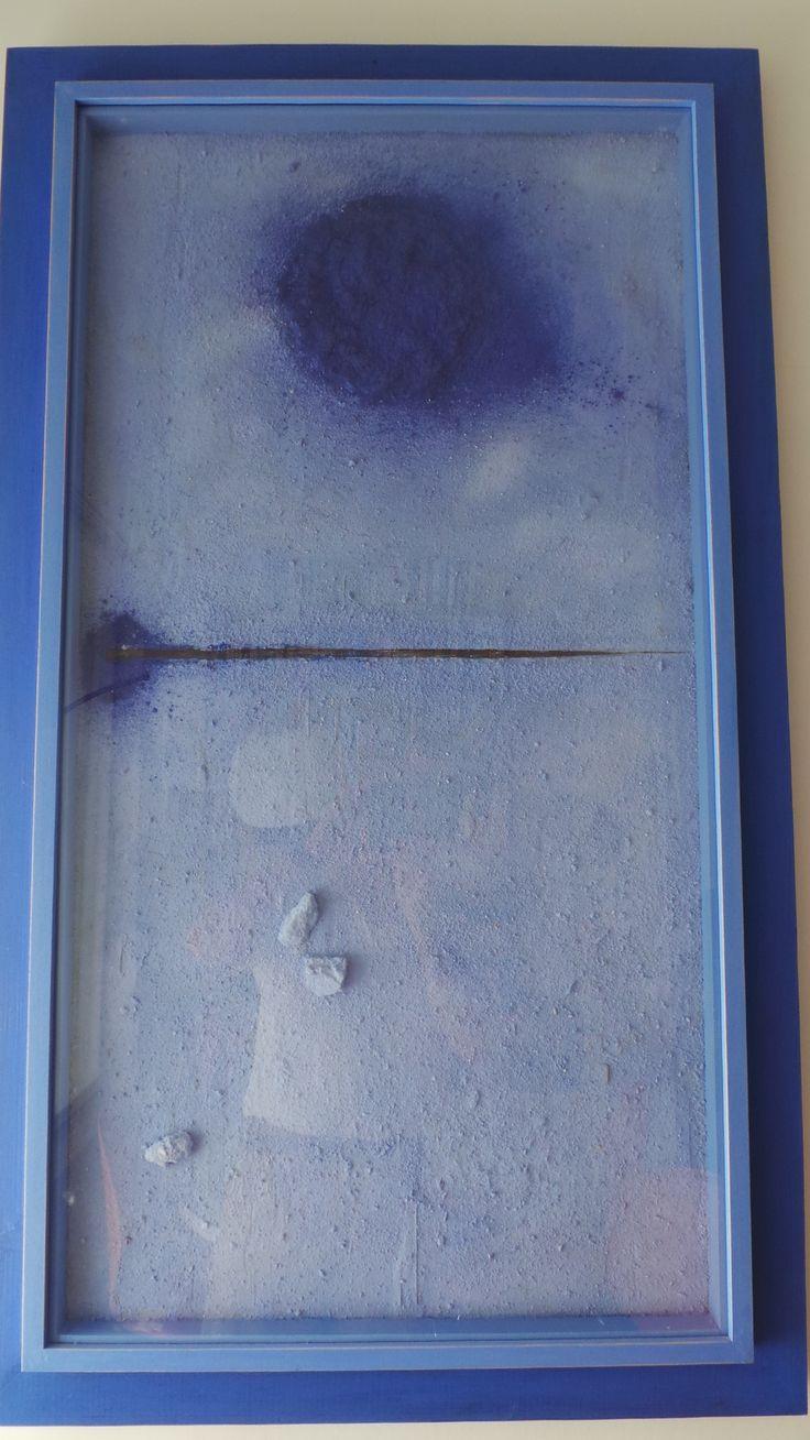 Arenas, pigmentos, resina y hierro sobre tabla. Autor: Frutos María.