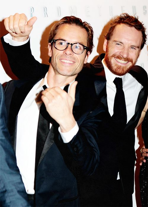 Guy Pearce and Fassy  I don't know why they are together but it is magical.