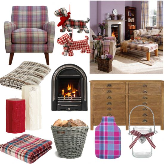 Celebrate Burns Night this weekend with a roaring fire, tartan fabrics and traditional Scottish haggis.