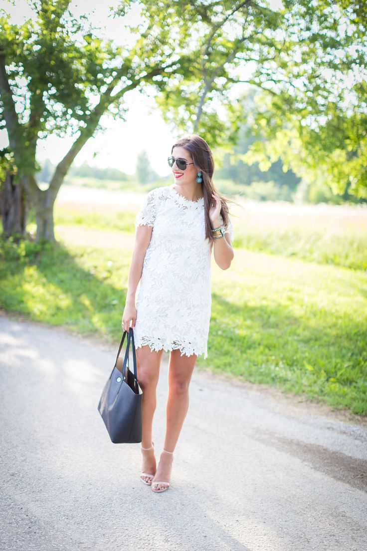 White Crochet Dress for Summer // A Southern Drawl