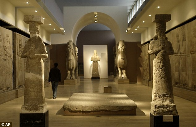 Millennia Old Assyrian Relief Sculptures At The Iraq
