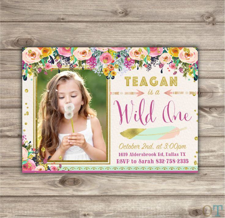 first birthday invitation template india%0A Photo Wild One Birthday Invitations Pink and Gold Party girl First Picture  Birthday Printable boho Zoo birthday Tribal Safari Arrow NV