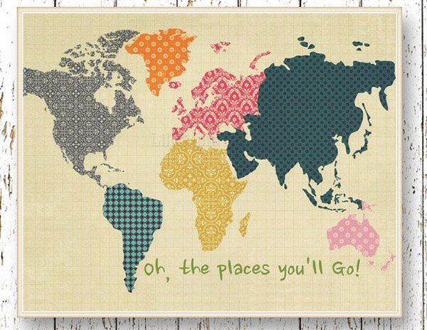 Etsy Find Of The Day Dr Suess World Map Dr Suess Dr