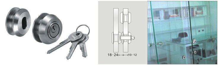 Serrure pour porte coulissante en verre : Inox 304l, Brossé satiné Diamètre de perçage Ø32mm Pour porte en verre 8-10mm Poids 330g.