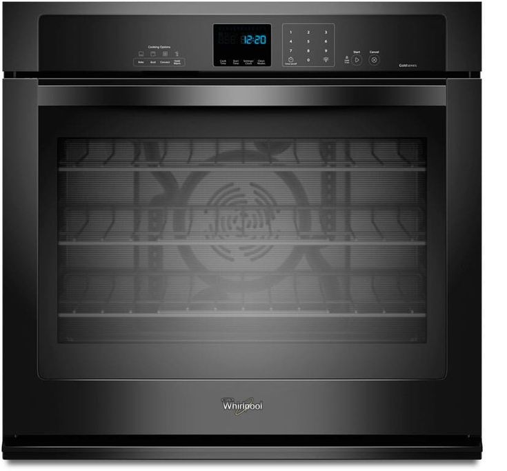 Whirlpool WOS92EC0AB 30 Inch Single Electric Wall Oven with True Convection, Self-Clean, Steam Clean, 5.0 cu. ft. Oven, Hidden Bake Element and Star-K Certified: Black