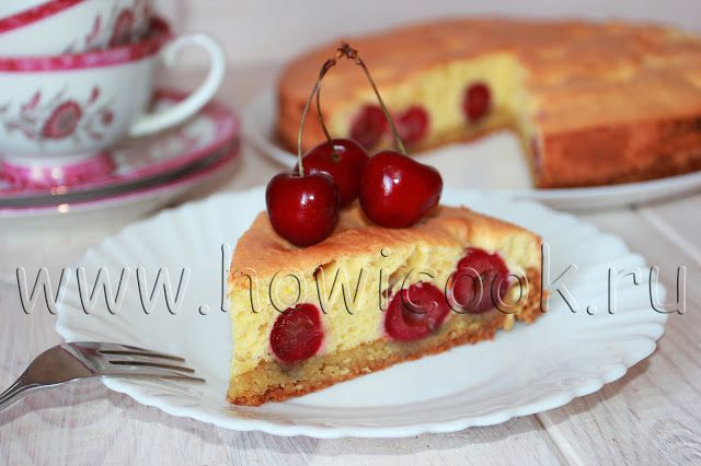 HowICook: Пирог с черешней, апельсинами из 2 видов теста (пе...