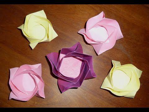 Origami rozet bakje
