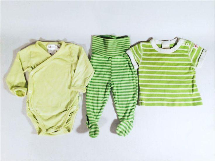 Litet ekologiskt klädpaket i grönt stl 62 H&M PO.P. Polarn