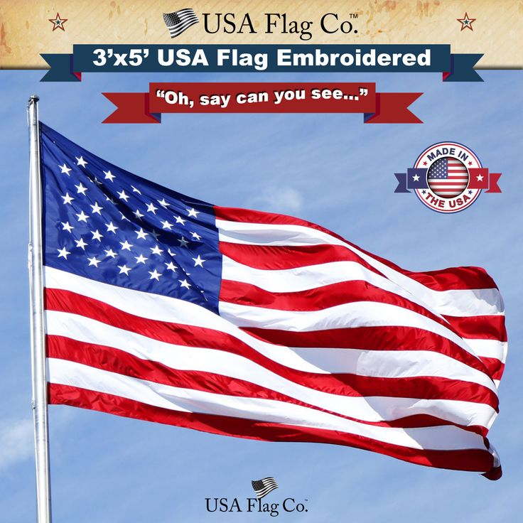 Beautiful Presentation — this US Flag makes an excellent gift for friends, parents or to PROUDLY display on your HOME or OFFICE. | https://www.usaflagco.com/products/american-flag