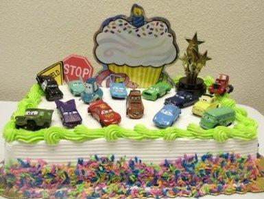 Amazon.com: McQueen Cars 18 Piece Cake Topper Set Featuring McQueen, Mater, Sally, Mack, Luigi, Guido, Ramone, Filmore, Sarge, Dinoco, Chick Hicks, Doc Hudson, and Cars Decorative Cake Items: Toys & Games