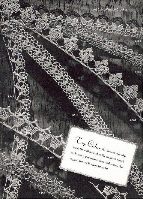 Decorative Edgings  Edgings Book No. 149  The Spool Cotton Company 1940 celts vintage crochet