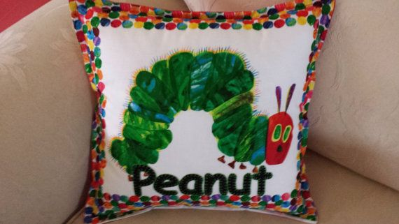 Personalised hand embroidered cushion cover by EmbroideredGiftsOz