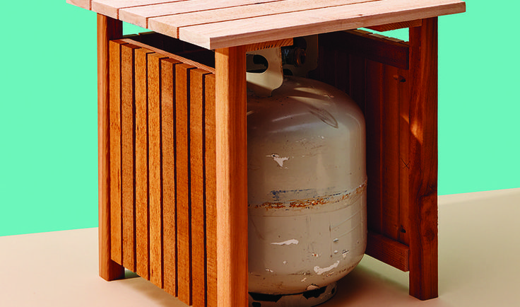 This article was originally published in the May 2017 issue of Cottage Life magazine. I'm a fan of double-duty solutions—especially if they involve stylish storage. This cedar side table ticks both boxes, neatly disguising a spare propane tank near the grilling action while providing a perch for drinks when the party spills onto the deck.…