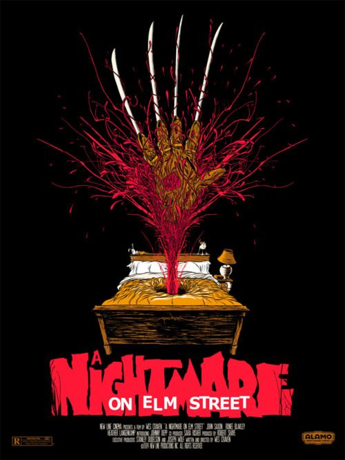 'Nightmare on Elm Street' Reimagined Movie Poster Buy the Nightmare on Elm Street Collection on DVD at http://www.discounthorrormovies.com/a-nightmare-on-elm-street-collection-all-7-original-nightmare-films/