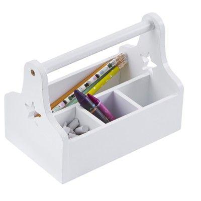 Skrivebordsordner - Star, hvid værktøjskasse i gruppen - Nyheder børneværelse hos Blå Elefant - Blaue Elefant (kid-122354)