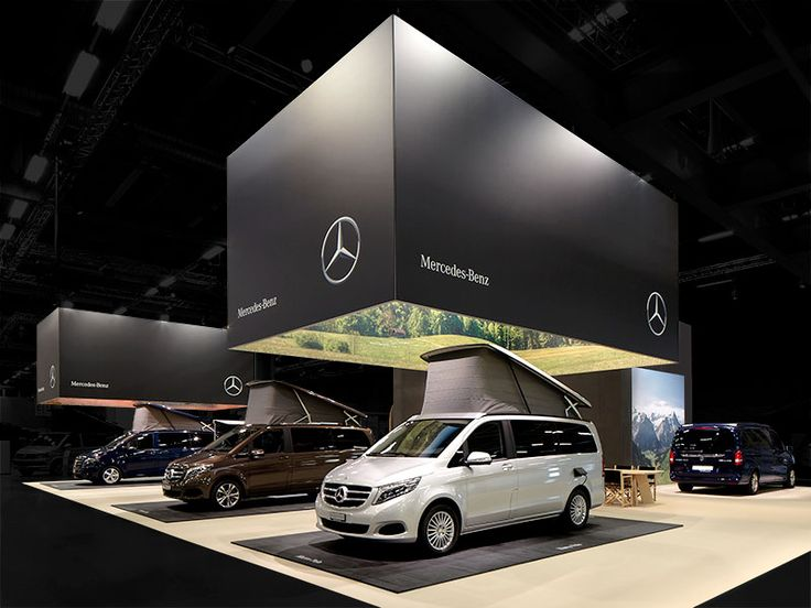 atelier 522 mercedes-benz trade fair booth suisse caravan salon 2015 overview