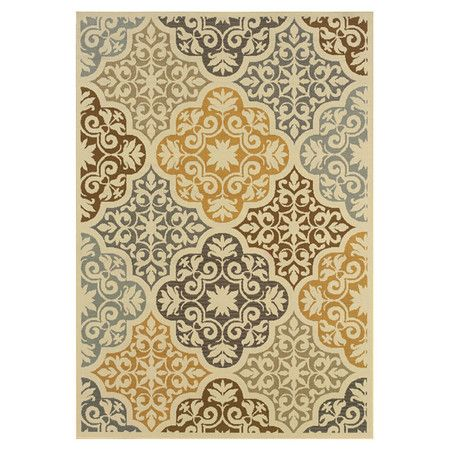 Found it at Wayfair - Bali Ivory & Gray Floral Rug