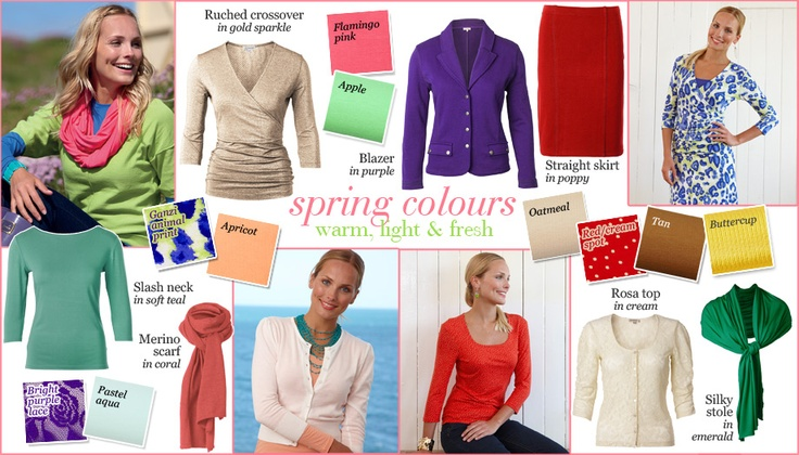 Kettlewell Colours - Spring Palette.fabulous company that sells gorgeous clothes in colours to suit every season.I am a Spring!
