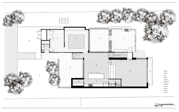Warrandyte House,Ground Floor Plan