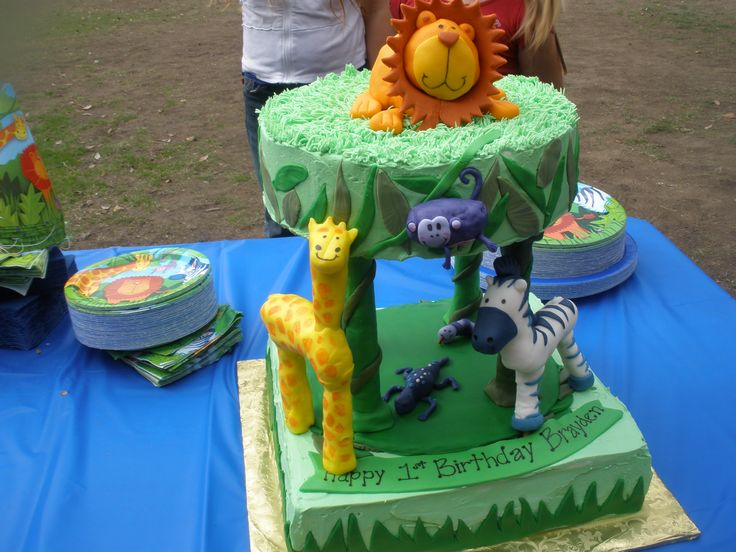 Jungle Cake I Was Asked To Do The Wilton Jungle Cake But