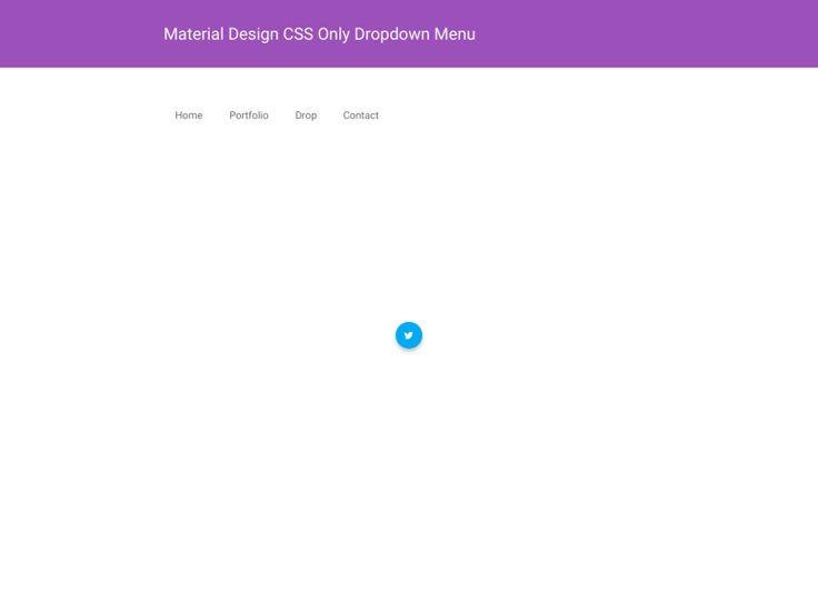 Material Design CSS Only Dropdown Menu