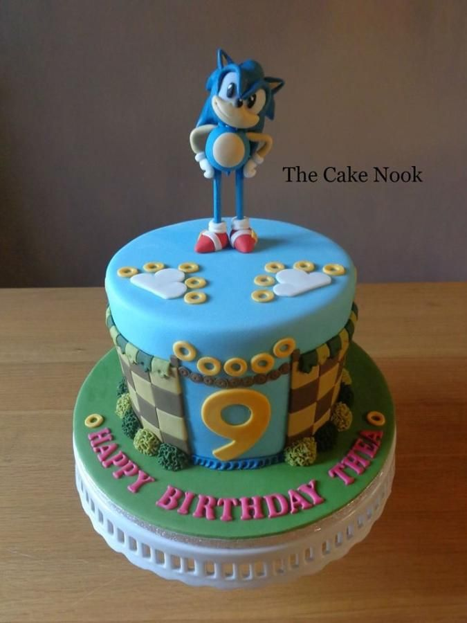 Sonic The Hedgehog Cake This Cake I Made For My Daughters 9th Birthday Back In December Hope You Like Sonic Birthday Cake Sonic The Hedgehog Cake Sonic Cake