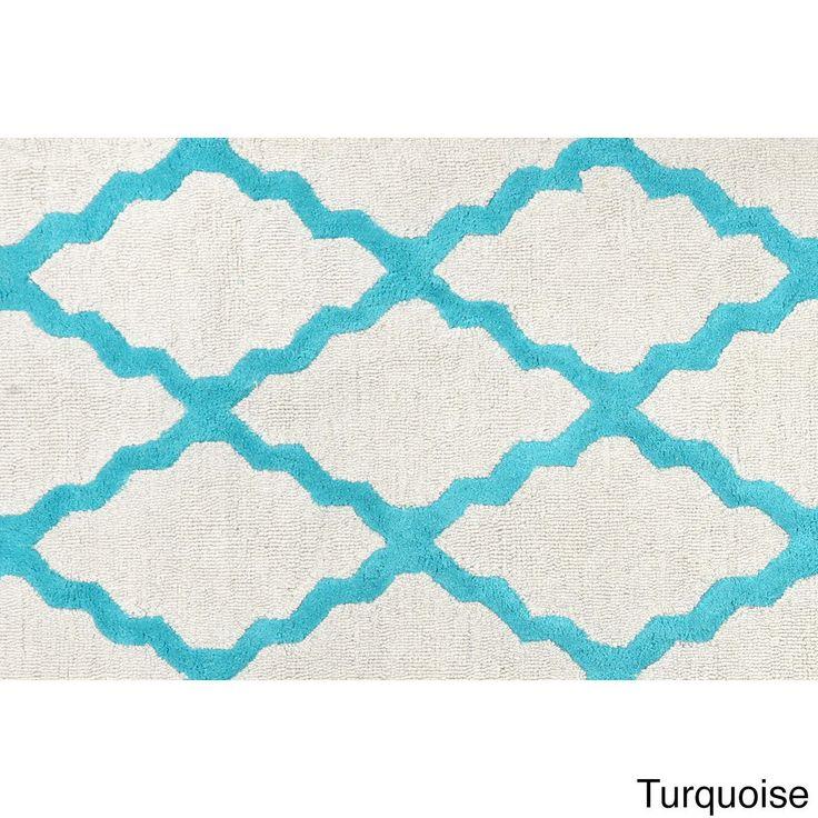 nuLOOM Hand-hooked Alexa Moroccan Trellis Wool Door Mat Rug (2' x 3') (