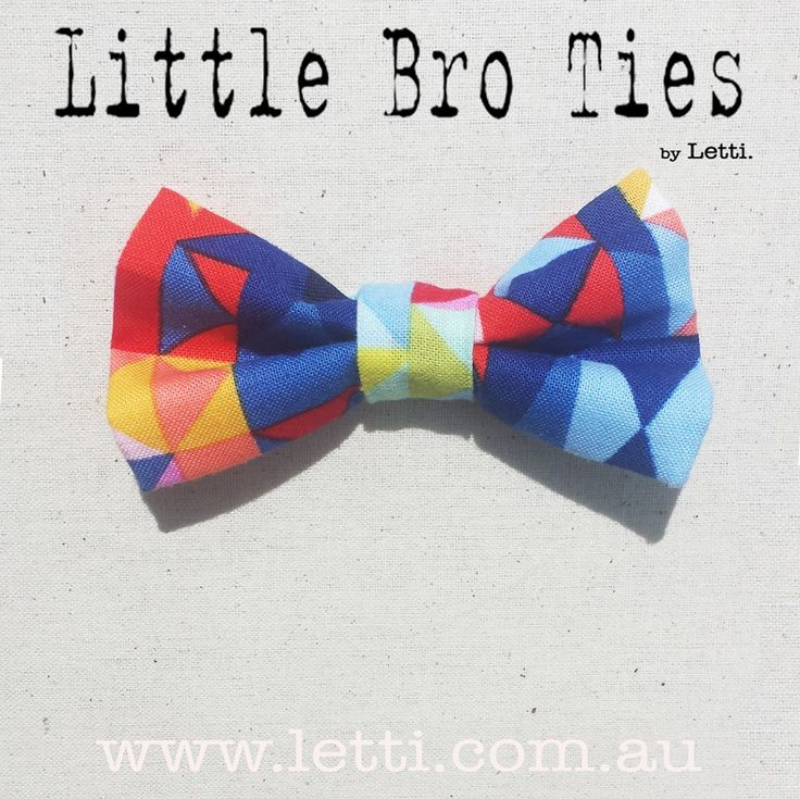 Check out our Super Colourful 'Acute' Magnetic 'Little Bro Tie'. Available now for only $12 www.letti.com.au