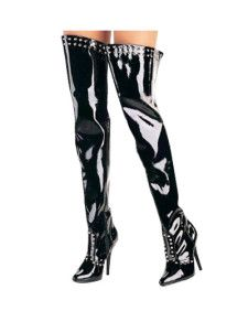Studded Thigh High Boots - Free Coupon Code Shop US$70.99