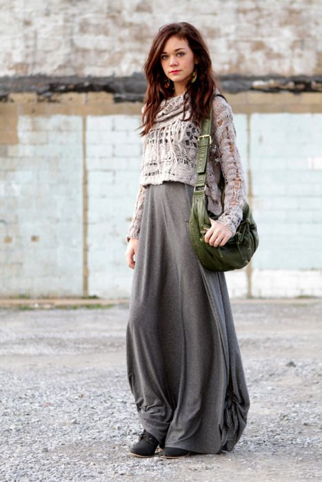 Sweaters With Maxi Dresses