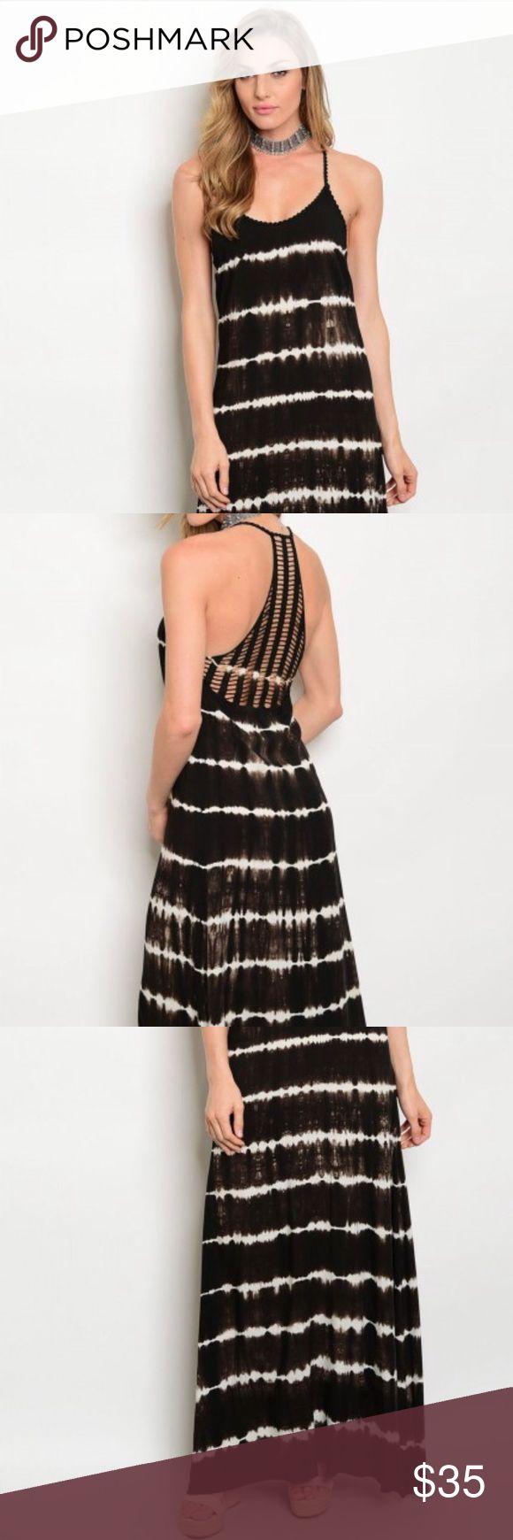 Scoop neck striped tie dye maxi dress Scoop neck striped tie dye maxi dress. Dresses Maxi