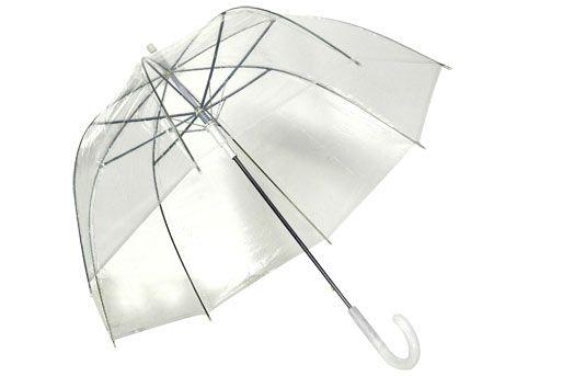 Paraguas transparente... ¡qué gran idea! :)