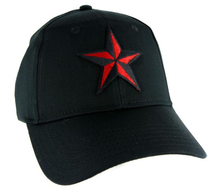 Red Nautical Star Hat Baseball Cap Alternative Clothing Rockabilly Tattoo Symbol  #rock #oi #gothsofinstagram #altclothing #gothic #metalheadsofinstagram #witchy #darkgirl #lolita #witchygirl