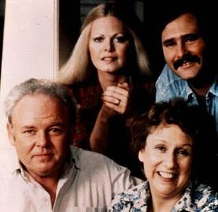 "Archie Bunker, Gloria Bunker-Stivic, Michael ""Meathead"" Stivic, and Edith Bunker [All in the Family]"