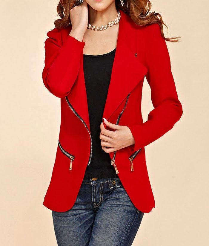 blazer mujer rojo - Buscar con Google