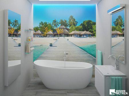 Łazienka Maldives - Salon kąpielowy na 5m2 Projekt gratis