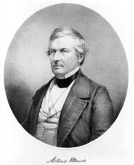 Millard Filmore, 13th President of USA, 1850-1853, Whig Party, Vice President when Zachary Taylor was president.