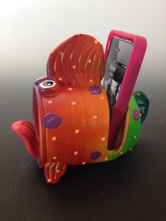 Cell Phone Speaker HolderCell Phone Desk Stand by PondScumCeramics