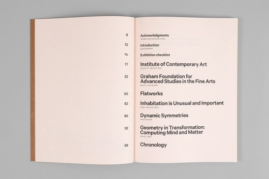 CONTENTS PAGE | minimal, typography, grid, columns